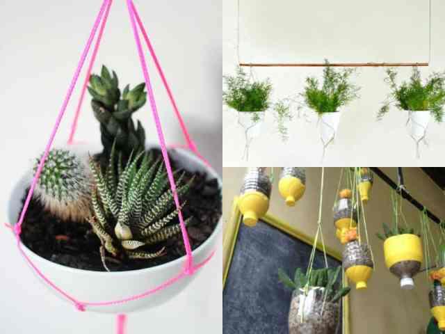 Vasi appesi 7 idee fa da te guida giardino for Oggetti da appendere