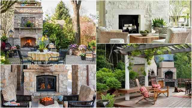 9 idee per allestire una zona relax con il camino guida for Kit caminetto per portico