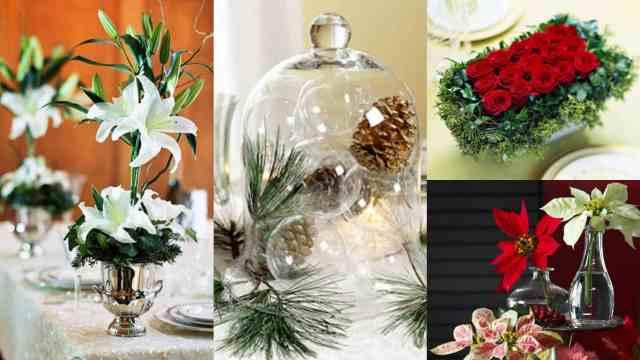 9 idee per realizzare centrotavola floreali in occasione for Idee per centrotavola natalizi