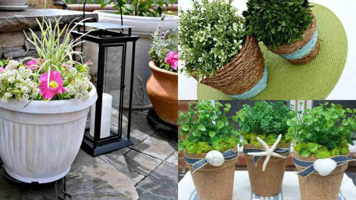 10 idee originali per trasformare i vecchi vasi in nuovi for Vasi da giardino in plastica