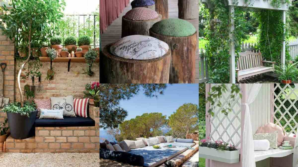 Sedersi in giardino 11 idee per realizzare un mini angolo for Idee giardino semplice