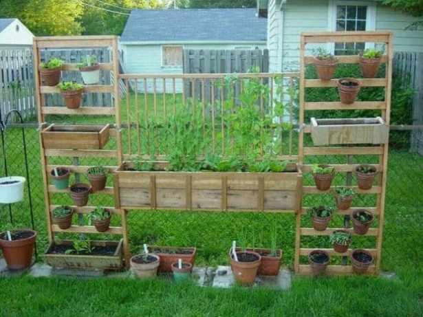 bellissima parete di legno dove coltivare i vostri ortaggi preferiti