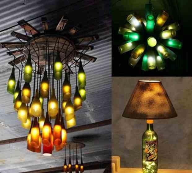 lampadari fai da te con vetro riciclato