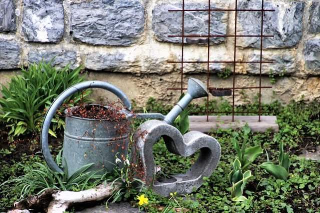 L'annaffiatoio, indispensabile in ogni giardino.