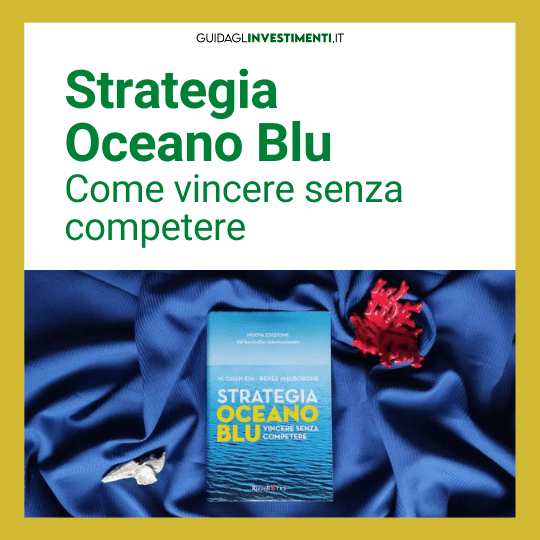 libro strategia oceano blu su drappo blu e corallo guidaglinvestimenti.it