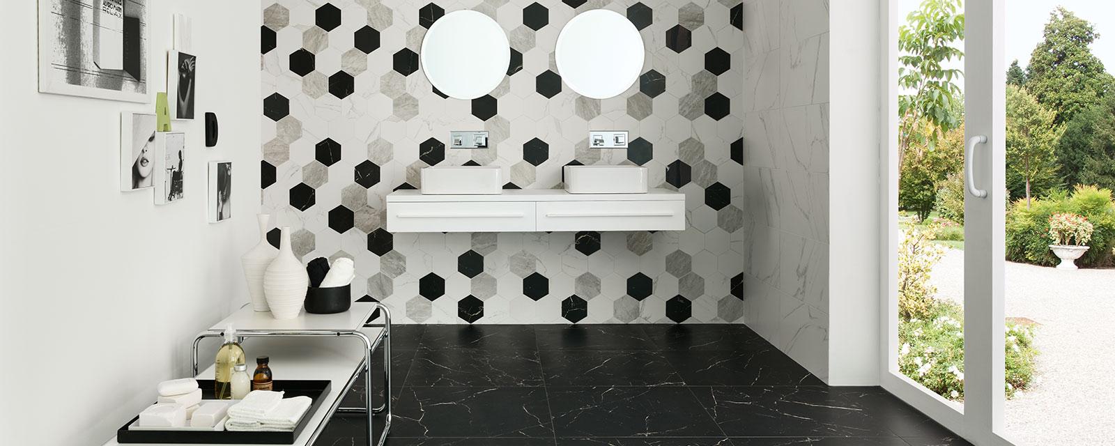 Carrelage Hexagonal Dans La Salle De Bains Guide Artisan
