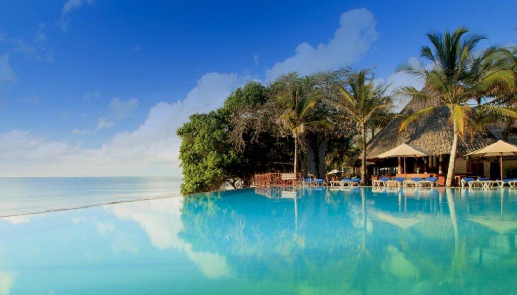 swimming pool - hotel baobab 4 stars + diani beach kenya