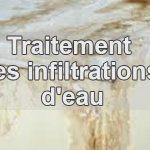 Traitement des infiltrations d'eau