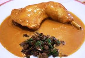 Poulet au vinaigre à la lyonnaise ou fricassée de poulet au vinaigre