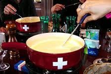 Fondue moitié-moitié ou fondue suisse
