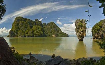 Koh Tapu, dans la baie de Phang Nga