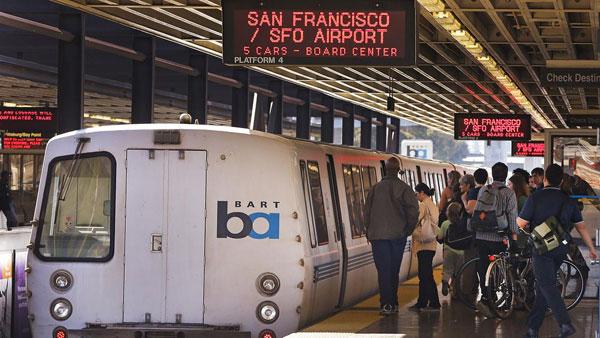 Bart Train - offentlig transport San Francisco
