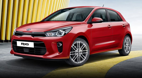 Kia Rio 2017 as a rental car