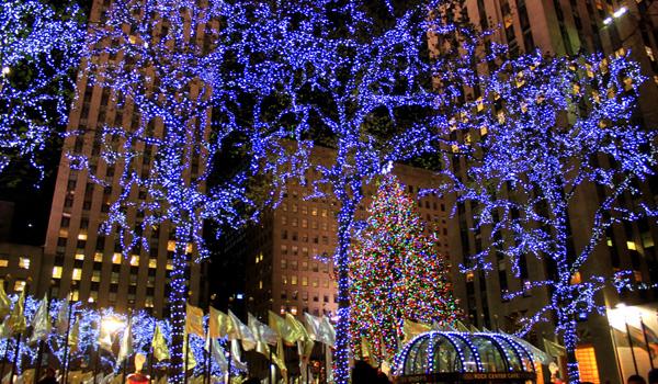 Julebelysning New York