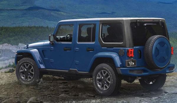 Jeep Rubicon Hard Rock - blue hard top