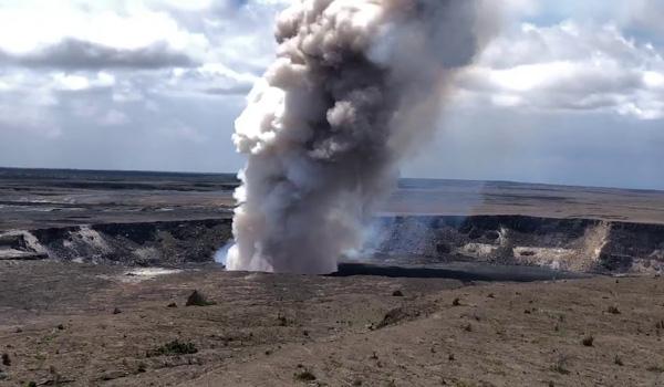Vulkanudbrud og jordskælv på Hawaii
