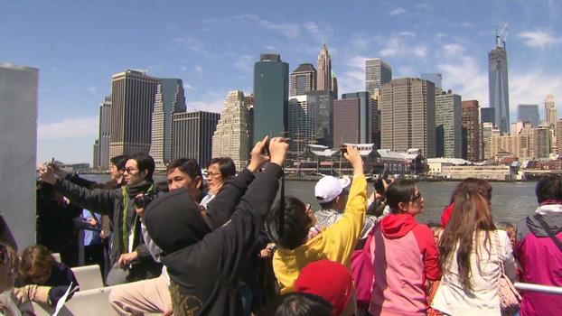 Antal udenlandske turister i USA falder