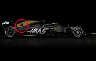 Kevin Magnussen bil nummer 20 Haas