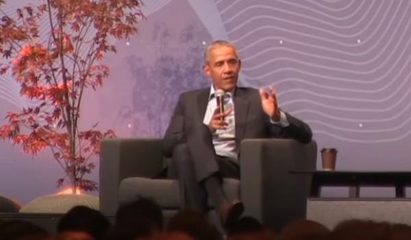 Barack Obama under møde i Norge