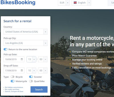 Find billig motorcykelleje i USA