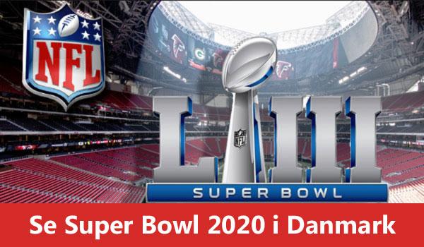 Super Bowl 2020 events i Danmark