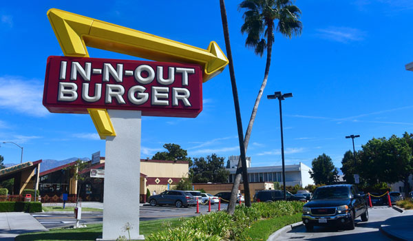 IN N OUT - Bedste Burger USA
