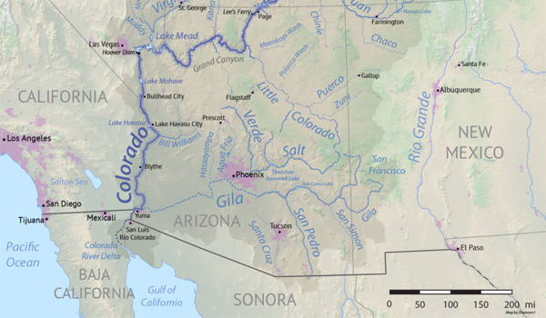 Colorado Flod kort