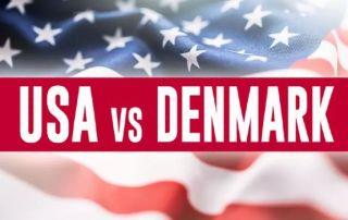 USA Denmark football