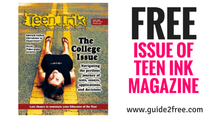 FREE Issue of Teen Ink Magazine