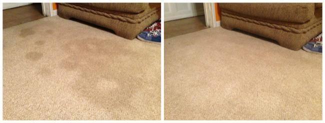 enlever une vieille tache sur un tapis