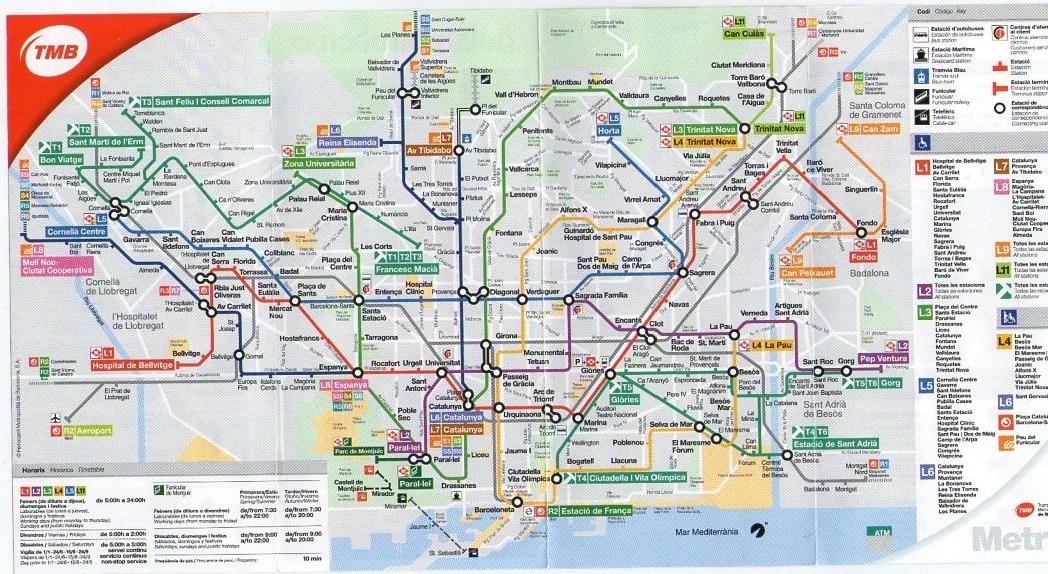 Public Transportation Barcelona Guide