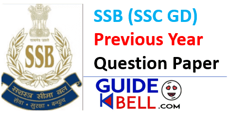 SSB Head Constable Previous Year Paper Best Quality Paper 2021