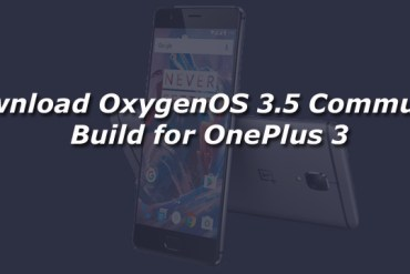 Download OxygenOS 3.5 Community Build for OnePlus 3