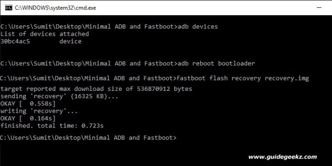 fastboot recovery