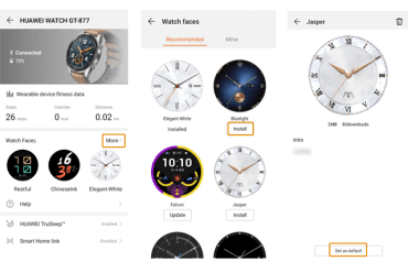 How to Install Watch Faces on Huawei Watch GT and Honor Watch Magic
