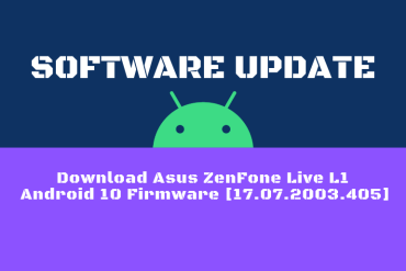Download Asus ZenFone Live L1 Android 10 Firmware [17.07.2003.405]