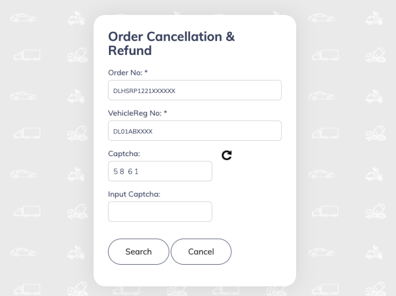 Cancel your HRSP order