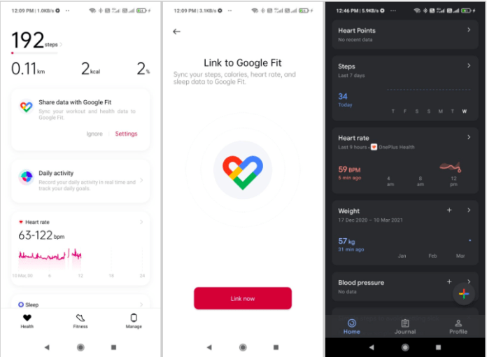 Sync OnePlus Band to Google Fit