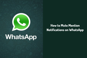 Mute Mention Notifications on WhatsApp