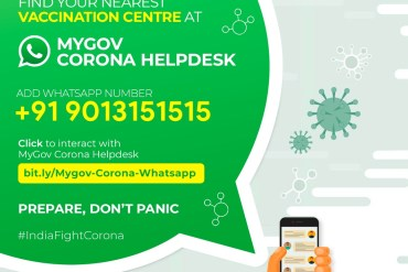 Find Nearest COVID Vaccination Centre on WhatsApp