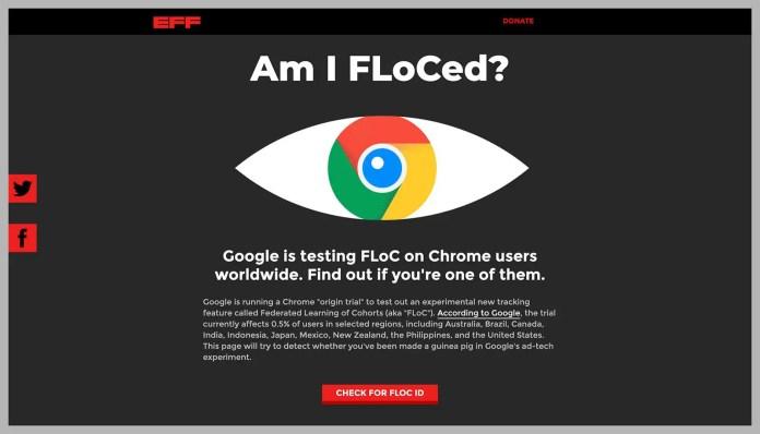 Disable FLoC in Google Chrome