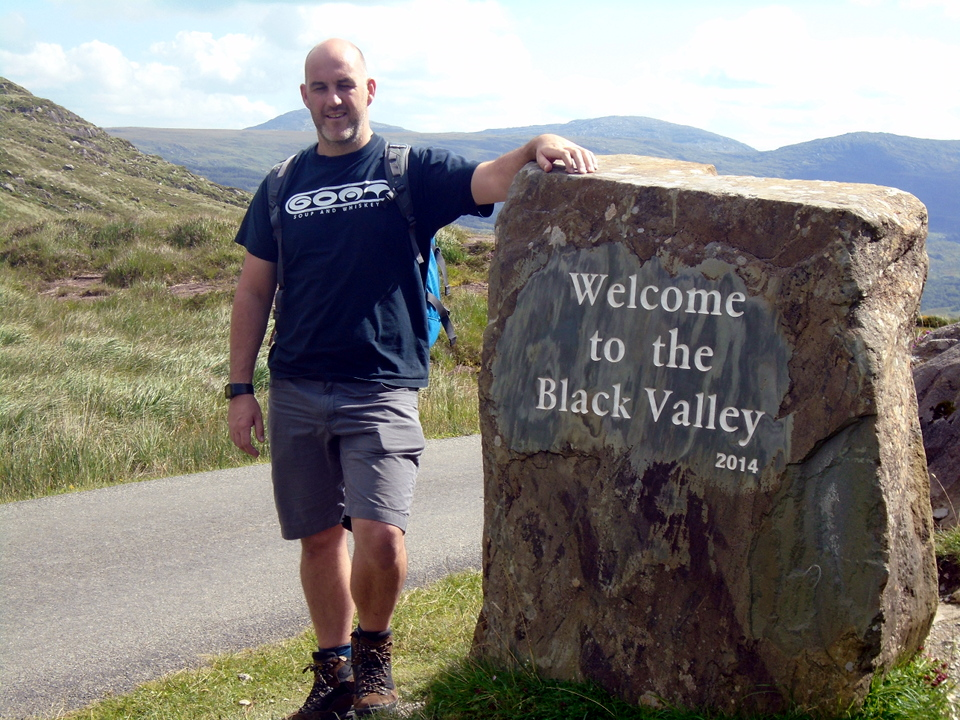 Jon Twynham at the top of the Gap