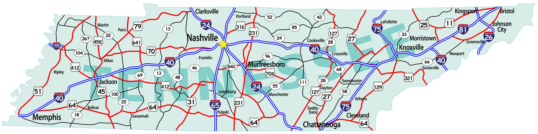 States Map Of Memphis Tn