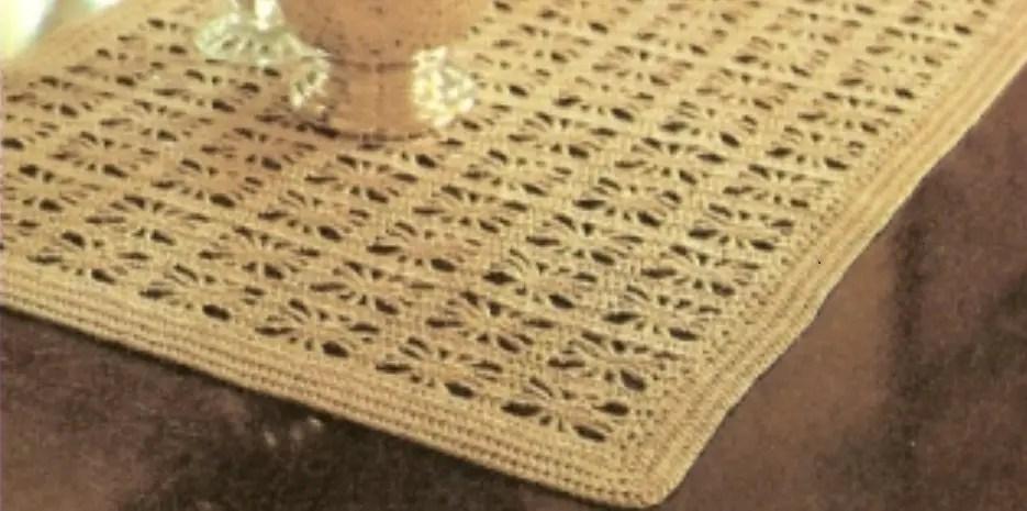 Printable Easy Table Crochet Runner