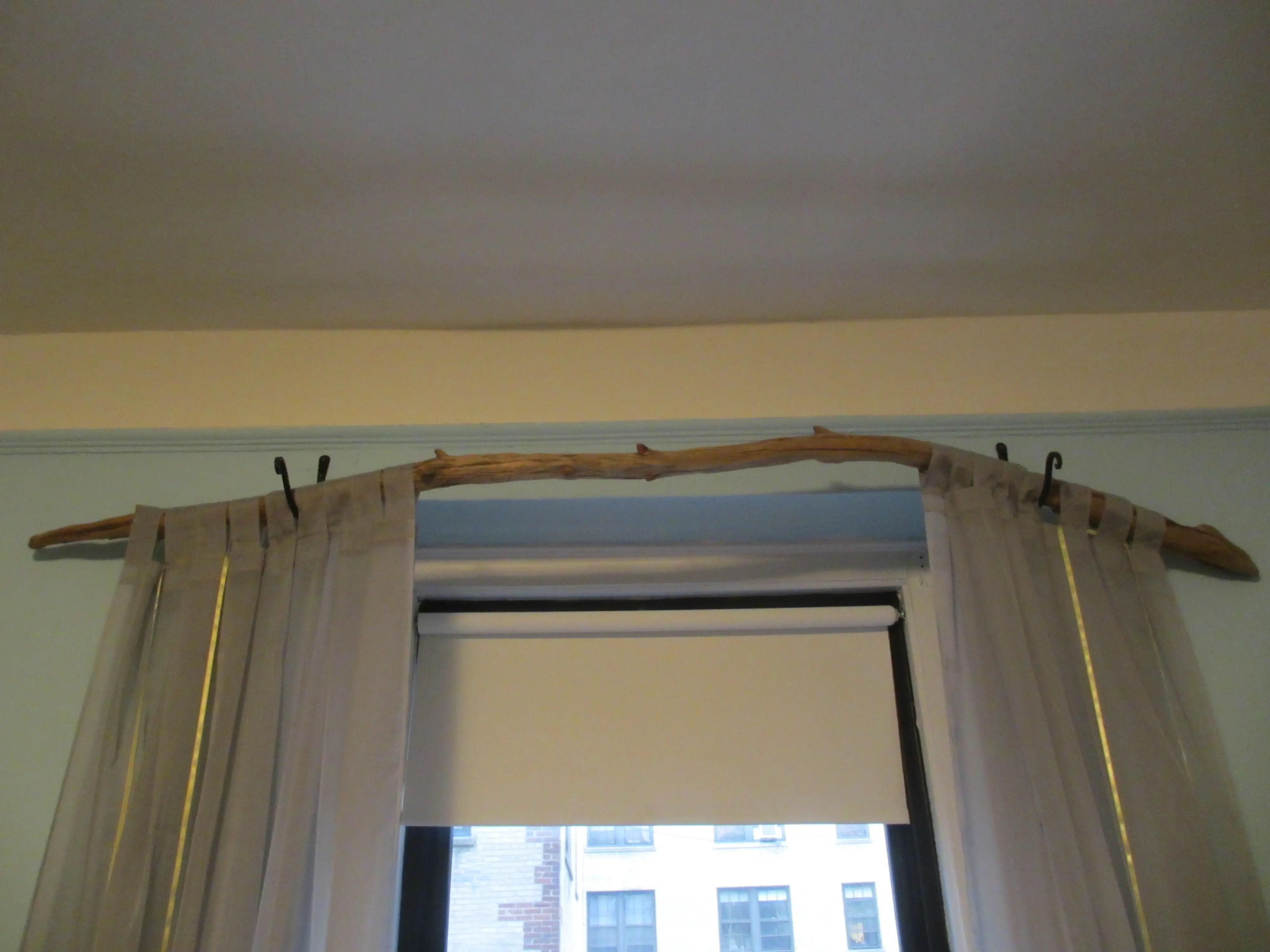 tree branch curtain rod 15 diy
