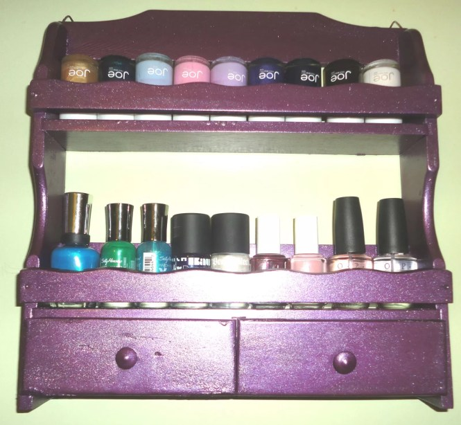 Diy Wood Nail Polish Rack Anization Anizing Woodworking Projects