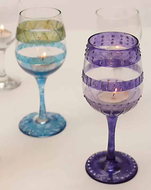 Wine Gl Candles