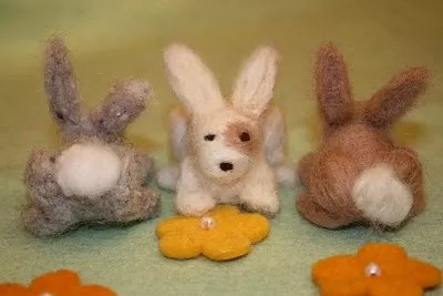 8 Artistic Needle Felted Bunny Tutorials Guide Patterns
