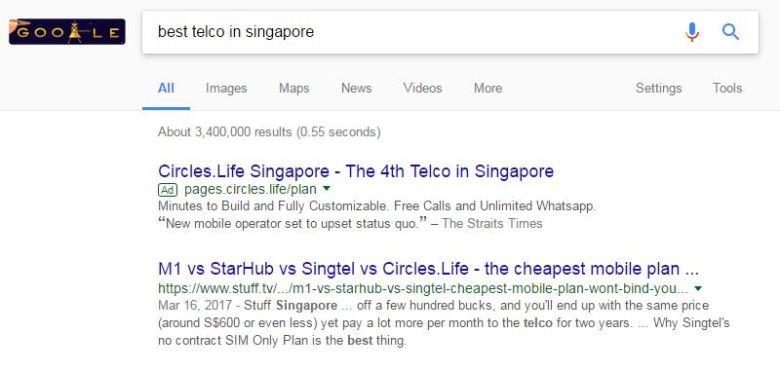 Circles.Life on Google