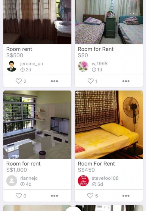 Carousell Singapore Roomss for Rental